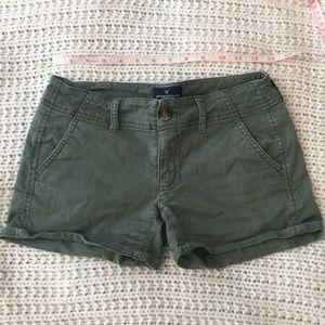 Dark green American eagle shorts